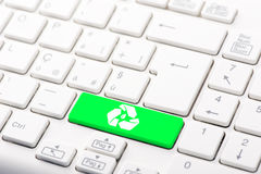 Recycle button on the keyboard Stock Photography