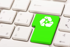 Recycle button on the keyboard Royalty Free Stock Images