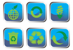 Recycle buttons Stock Photo