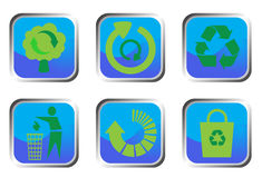Recycle buttons Stock Image