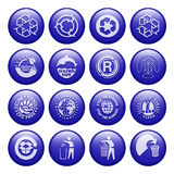 Recycle Buttons. Environtment-Friendly Eyecandy Gel Buttons Royalty Free Illustration