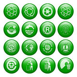 Recycle Buttons. Environtment-Friendly Eyecandy Gel Buttons Stock Illustration