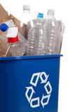 Recycle can with recyclables Royalty Free Stock Photography