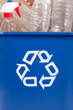 Recycle can with recyclables Royalty Free Stock Photos