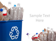 Recycle can with recyclables Stock Photography