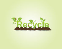 Recycle caption Stock Photography
