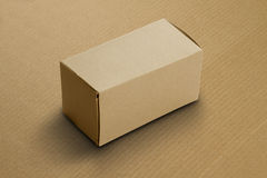 Recycle Card Board Box for Mockup on corrugated background Stock Images