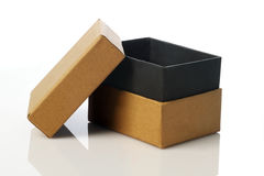 Recycle Card Board Box for Mockup on White Stock Photo