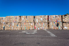 Recycle Cardboard Waste Stacks  Royalty Free Stock Photo