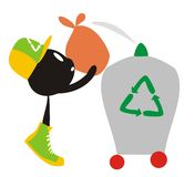 Recycle cartoon Stock Photo