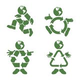 Recycle Character. Vector illustration of a green character with a recycle symbol body Royalty Free Stock Images
