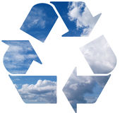 Recycle on clouds Royalty Free Stock Images