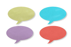 Recycle color paper shape as bubble speech Stock Image