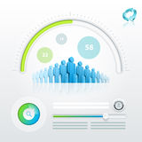 Recycle and community. Vector ui (user interface) elements and graphics Stock Photography