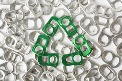 recycle concept from aluminum pull ring Royalty Free Stock Image