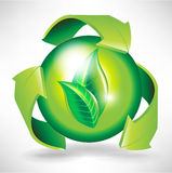 Recycle concept with arrows and sphere Stock Photography