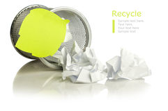 Recycle concept with paper Stock Photography