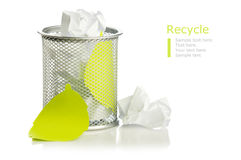 Recycle concept with paper Royalty Free Stock Photography