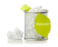 Recycle concept with paper Stock Photos