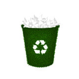 Recycle container, wastepaper, trash Royalty Free Stock Photography