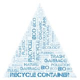Recycle Container word cloud. Wordcloud made with text only stock image