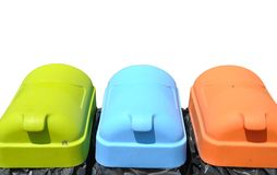Recycle containers Royalty Free Stock Photos