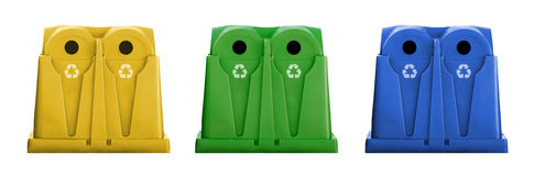 Recycle containers Stock Photography