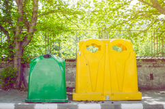 Recycle Containers. Street Recycle Containers For Different Materials Royalty Free Stock Images