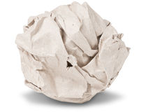 Recycle crumpled paper ball Royalty Free Stock Image
