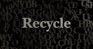 Recycle - 3D rendered metallic typeset headline illustration Stock Photo