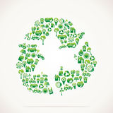 Recycle design with eco nature icons Royalty Free Stock Photos