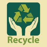 recycle design in green colors Royalty Free Stock Image