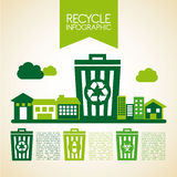 Recycle design. Over beige background, vector illustration Stock Images