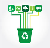 Recycle design royalty free illustration