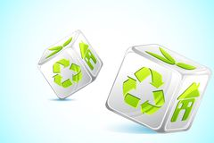 Recycle DIce Royalty Free Stock Image