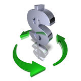 Recycle dollar Royalty Free Stock Photo
