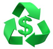 Recycle dollar Royalty Free Stock Image