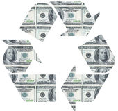 Recycle on dollar bill