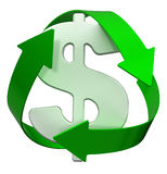 Recycle dollar Stock Images