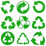 Recycle doodle icons stock illustration