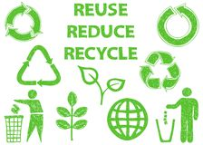 Recycle doodle icons Royalty Free Stock Image