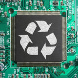 Recycle e-junk eco-friendly technology concept Royalty Free Stock Image