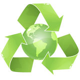 Recycle Earth royalty free illustration