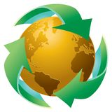 Recycle The Earth Stock Images