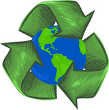 Recycle For Earth royalty free illustration