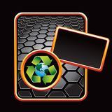 Recycle earth black hexagon advertisement Stock Photos