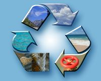 Recycle the Earth collage royalty free stock photo