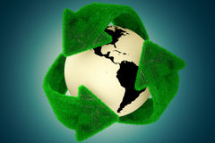 Recycle Earth. Stock Photo