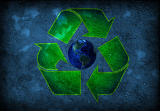 Recycle Earth grunge Stock Photos
