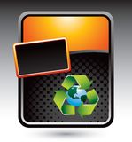 Recycle earth stylized orange banner Stock Photography